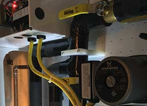 installation of hydronic-heating